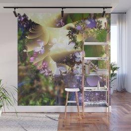 Floral fractals mixed reality Wall Mural