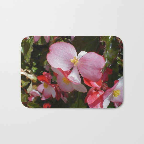 Begonia in the Rose Garden Bath Mat