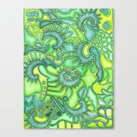 jungle Canvas Prints featuring Jungle by art by becera