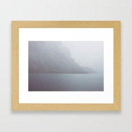 Snow in August Framed Art Print