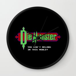 Castlevania - Die Monster. You Don't Belong In This World! Wall Clock