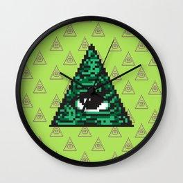 Illuminati pixel art Wall Clock