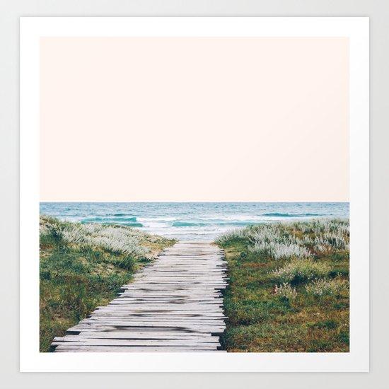 The Ocean is Calling & I Must Go #society6 #buyart Art Print