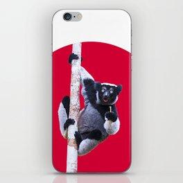 Indri indri sitting in the tree iPhone Skin