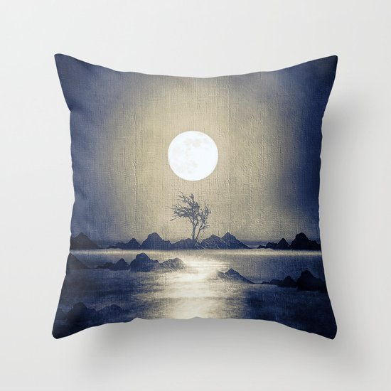 When the moon speaks (part III) colour option Throw Pillow