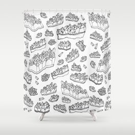 White Amethyst Shower Curtain