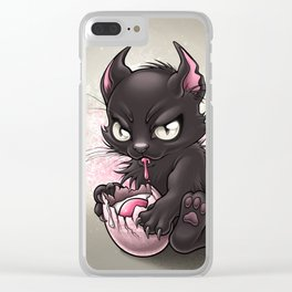 Devil Kitty Clear iPhone Case