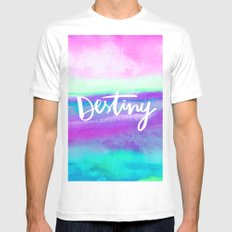 Destiny [Collaboration with Jacqueline Maldonado] MEDIUM White Mens Fitted Tee