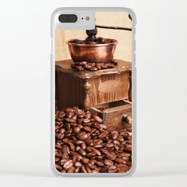 coffee grinder 2 Clear iPhone Case