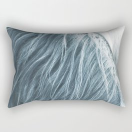 Horse mane photography, fine art print n°1, wild nature, still life, landscape, freedom Rectangular Pillow