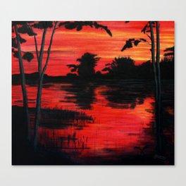 Passionate Twilight Sky Canvas Print
