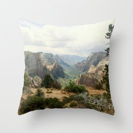 Above Zion Canyon Throw Pillow