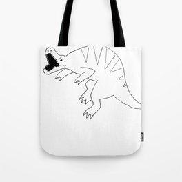 dinosaur love pizza Tote Bag
