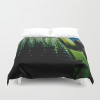 montreal Duvet Covers featuring Montreal city by Jean-François Dupuis