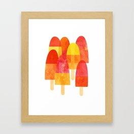 Ice Lollies and Popsicles Framed Art Print