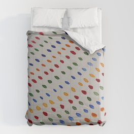 Colorful Dots In A Row Comforters