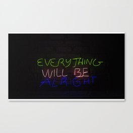 Everything in Neon Canvas Print
