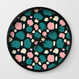abstract paint swatches Wall Clock