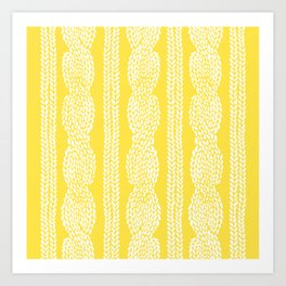 Cable Row Yellow Art Print