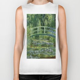 Claude Monet's Water Lilies and Japanese Bridge Biker Tank