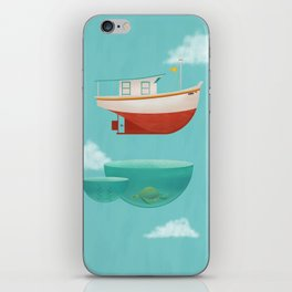 Floating Boat iPhone Skin