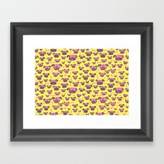 Pug Life  - Yellow and pink Framed Art Print