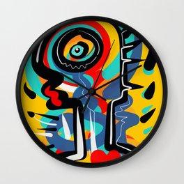 Wild Heart Street Art Graffiti Primitive Wall Clock