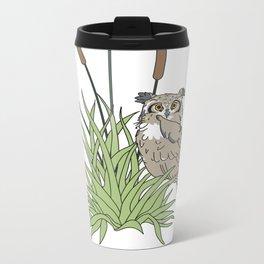 Things Swedes Say - I Sense Owls in the Bog Metal Travel Mug