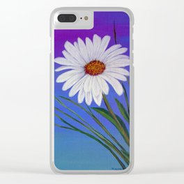 White daisy -2 Clear iPhone Case