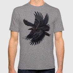 Moonlight Raven Tri-Grey MEDIUM Mens Fitted Tee