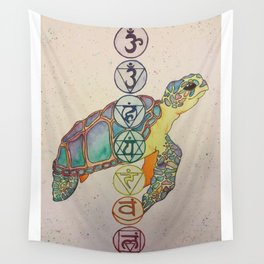 Chakra Turtle Wall Tapestry