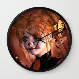 The sweet sad clown Wall Clock