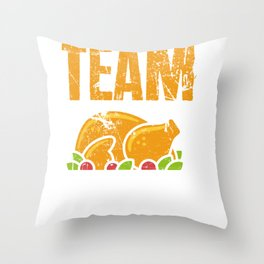 Team Stuffing Funny Thanksgiving  Throw Pillow
