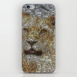 WordArt Lion iPhone Skin