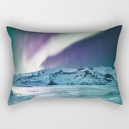 aurora in iceland Rectangular Pillow
