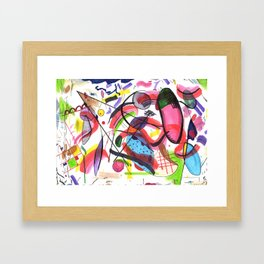 The Hot Mess Composition VIII Ripoff Framed Art Print