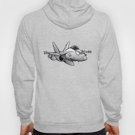 F/A-18 Hornet Military Fighter Jet Airplane Cartoon Hoody