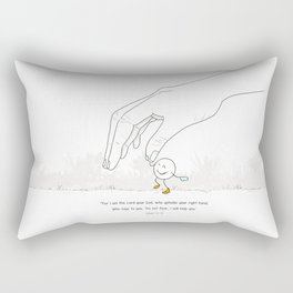 Don´t fear God is with you .REformas.  Rectangular Pillow
