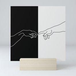 Hands of God and Adam- The creation of Adam Mini Art Print