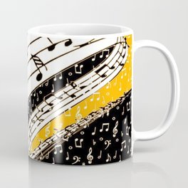 Gold music theme Coffee Mug