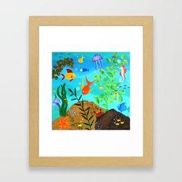 Happy Fish Framed Art Print