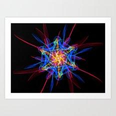 Silkweave / Neon Sigil 2 Art Print