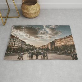 Wenceslas Square in Prague (Czech Republic) Rug