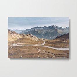 Alpine Roads Metal Print