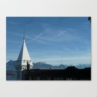 switzerland Canvas Prints featuring Switzerland by amollt