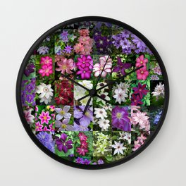 Clamatis Montage Wall Clock