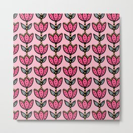Big floral - pink5 Metal Print