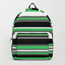 Stripes Pattern: Green Backpack
