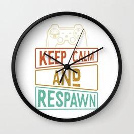 Gaming Controller Resuscitate Wall Clock