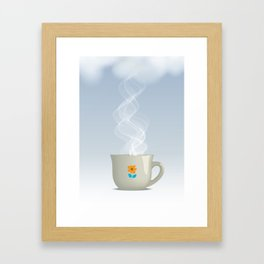 Steaming cup Framed Art Print